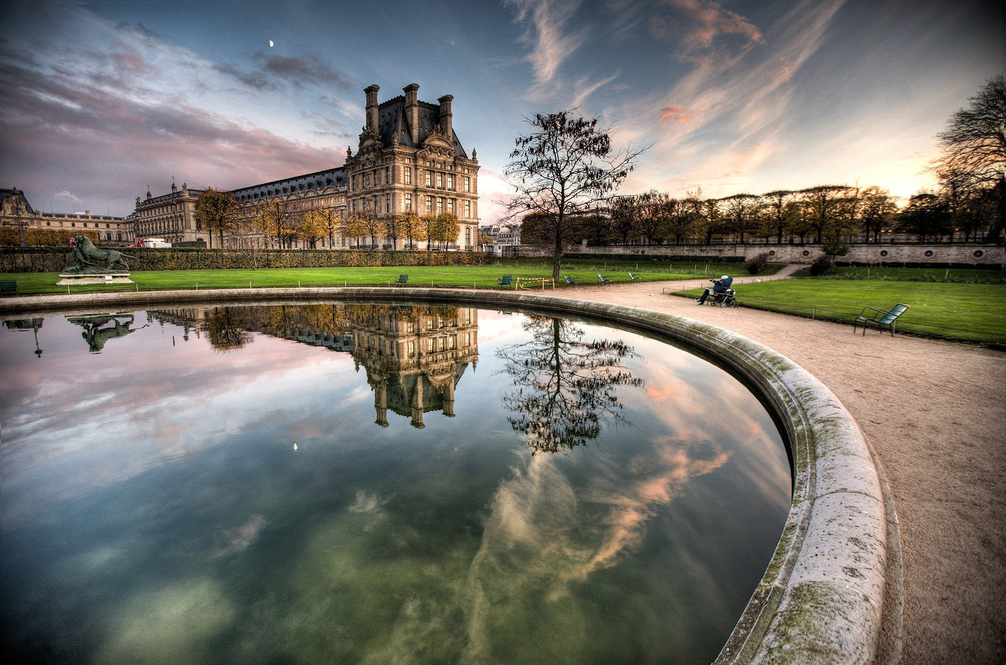 Paris HDR Photography Louvre HD Wallpaper