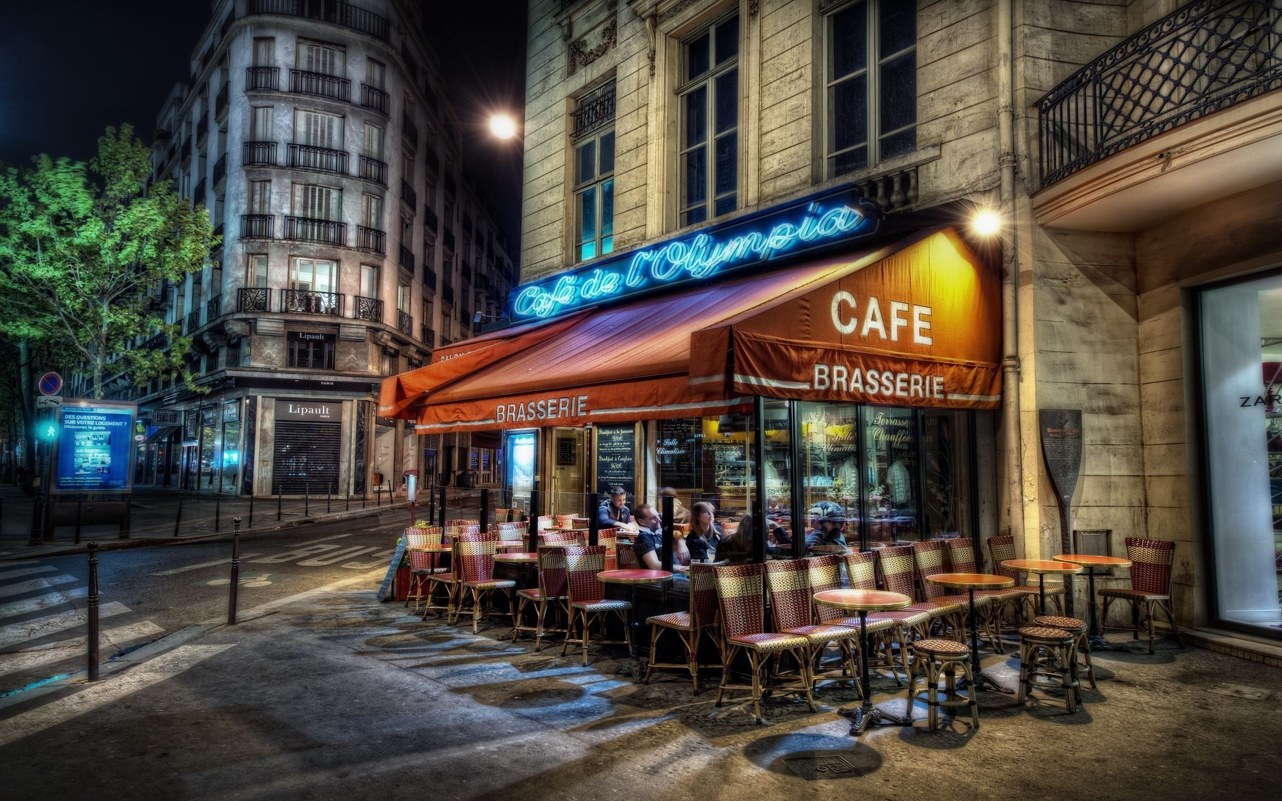 Paris streets France HDR HD Wallpaper