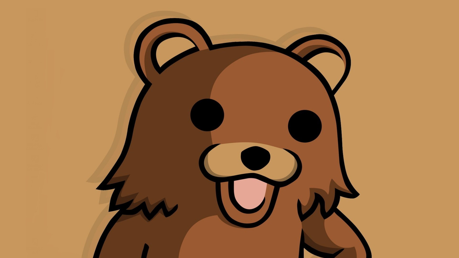 Pedobear brown meme fun HD Wallpaper