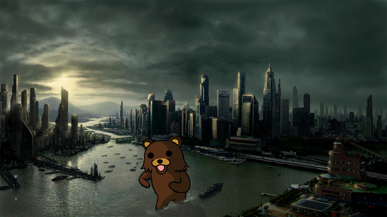 Pedobear funny meme cities HD Wallpaper