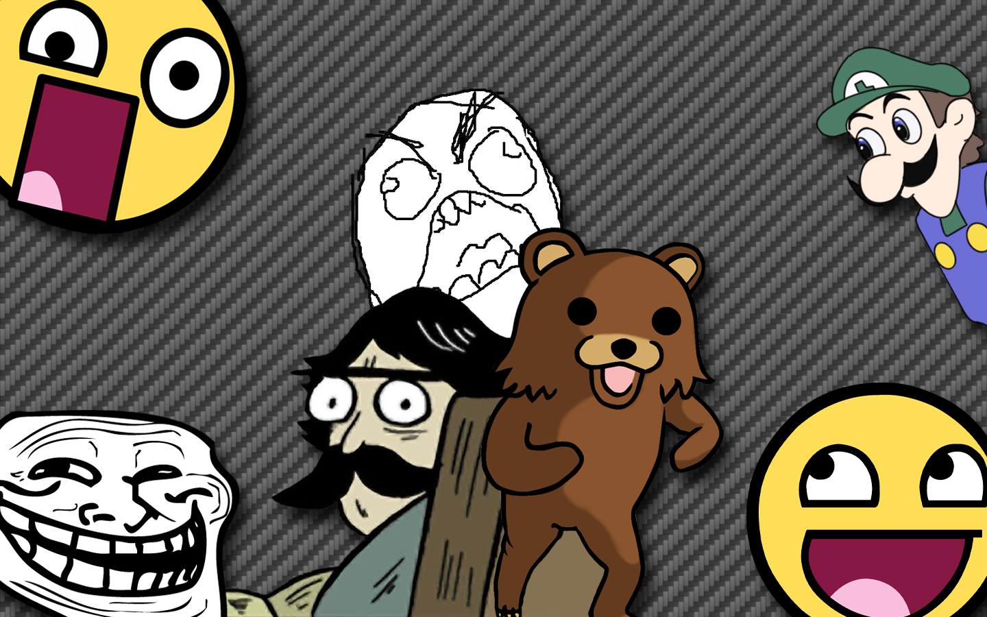 Pedobear meme trollface Awesome HD Wallpaper