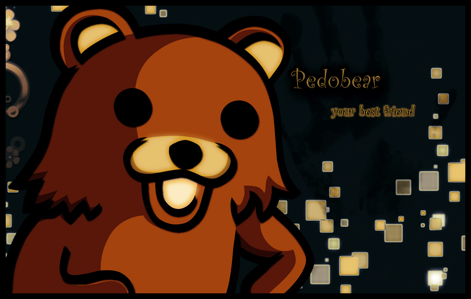 Pedobear Your best friend HD Wallpaper