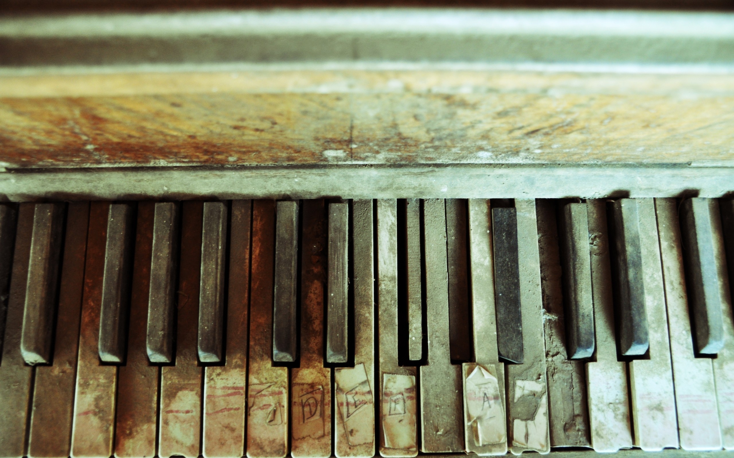 piano old Dusty HD Wallpaper
