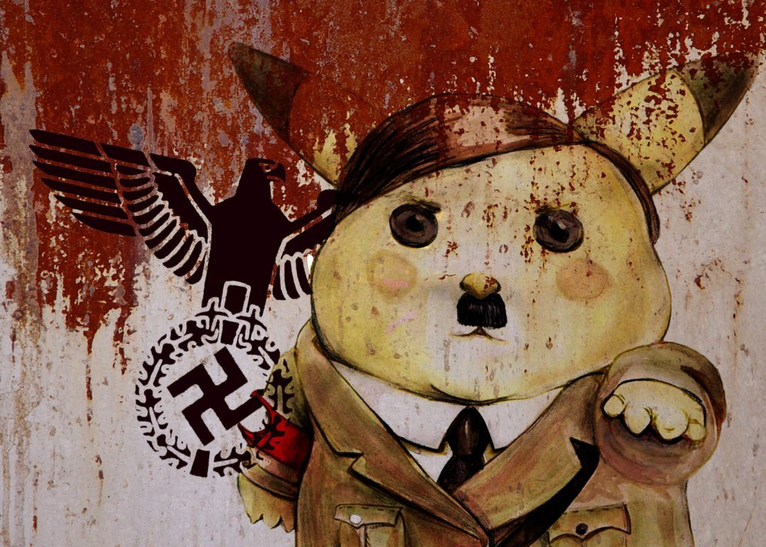 Pikachu Adolf hitler cartoon HD Wallpaper