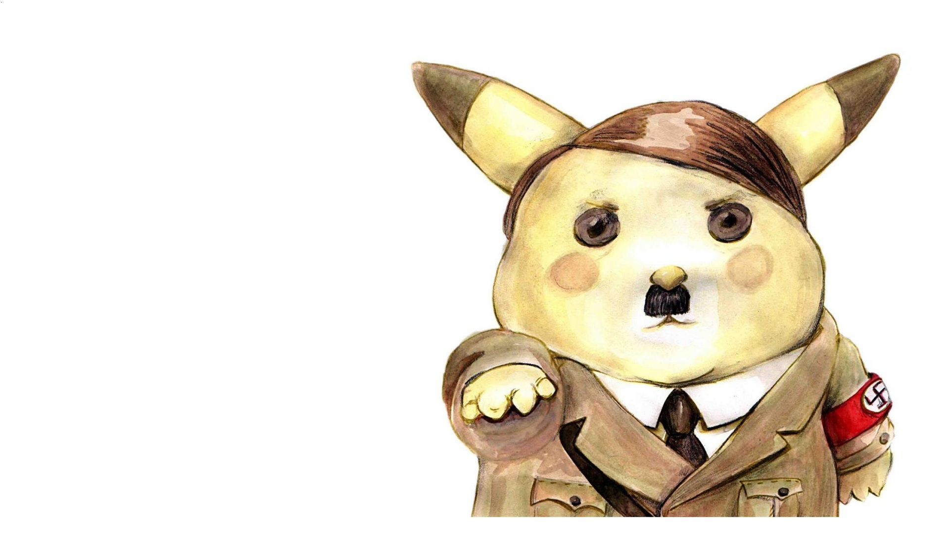 Pikachu funny Adolf Hitler HD Wallpaper