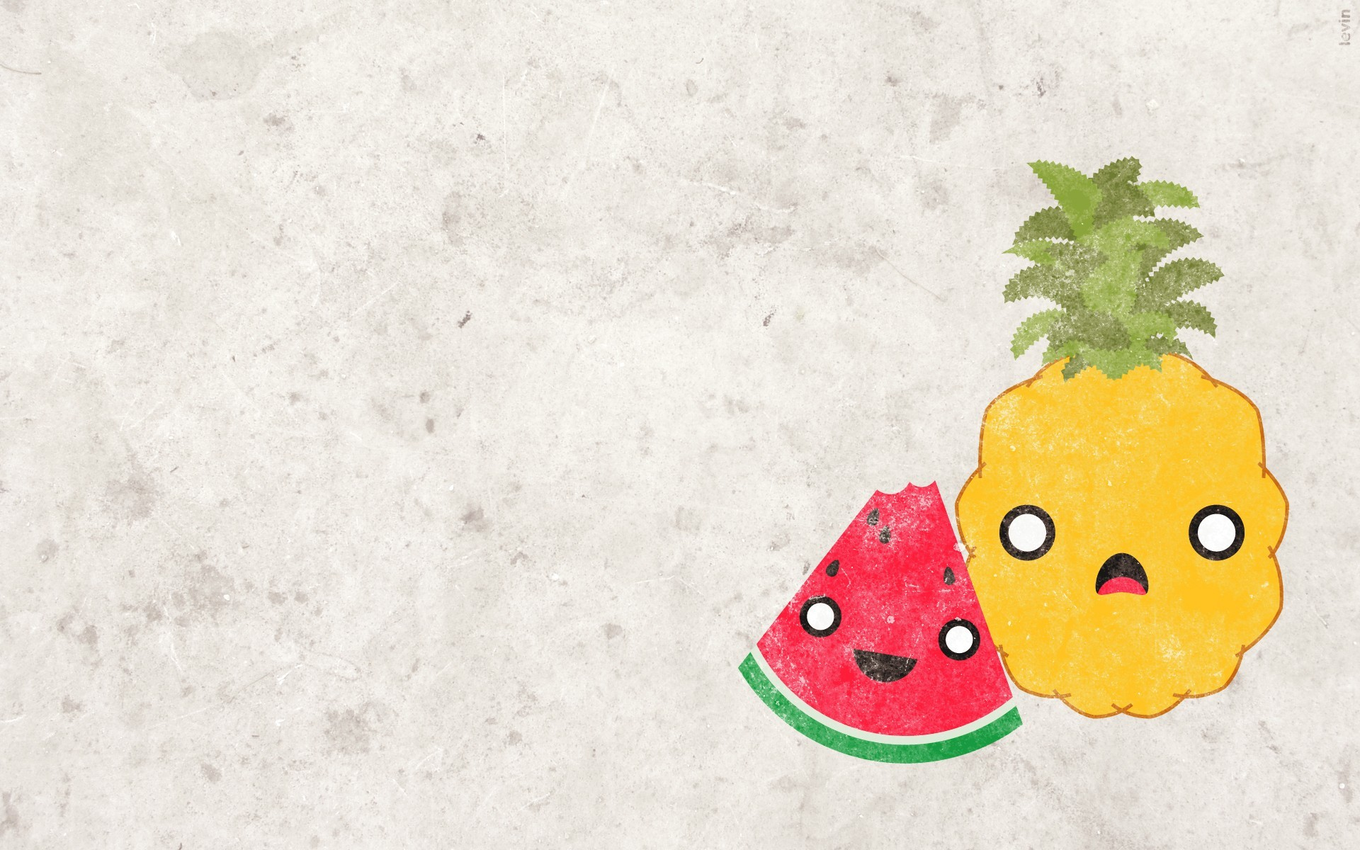 pineapples fruits watermelons white HD Wallpaper