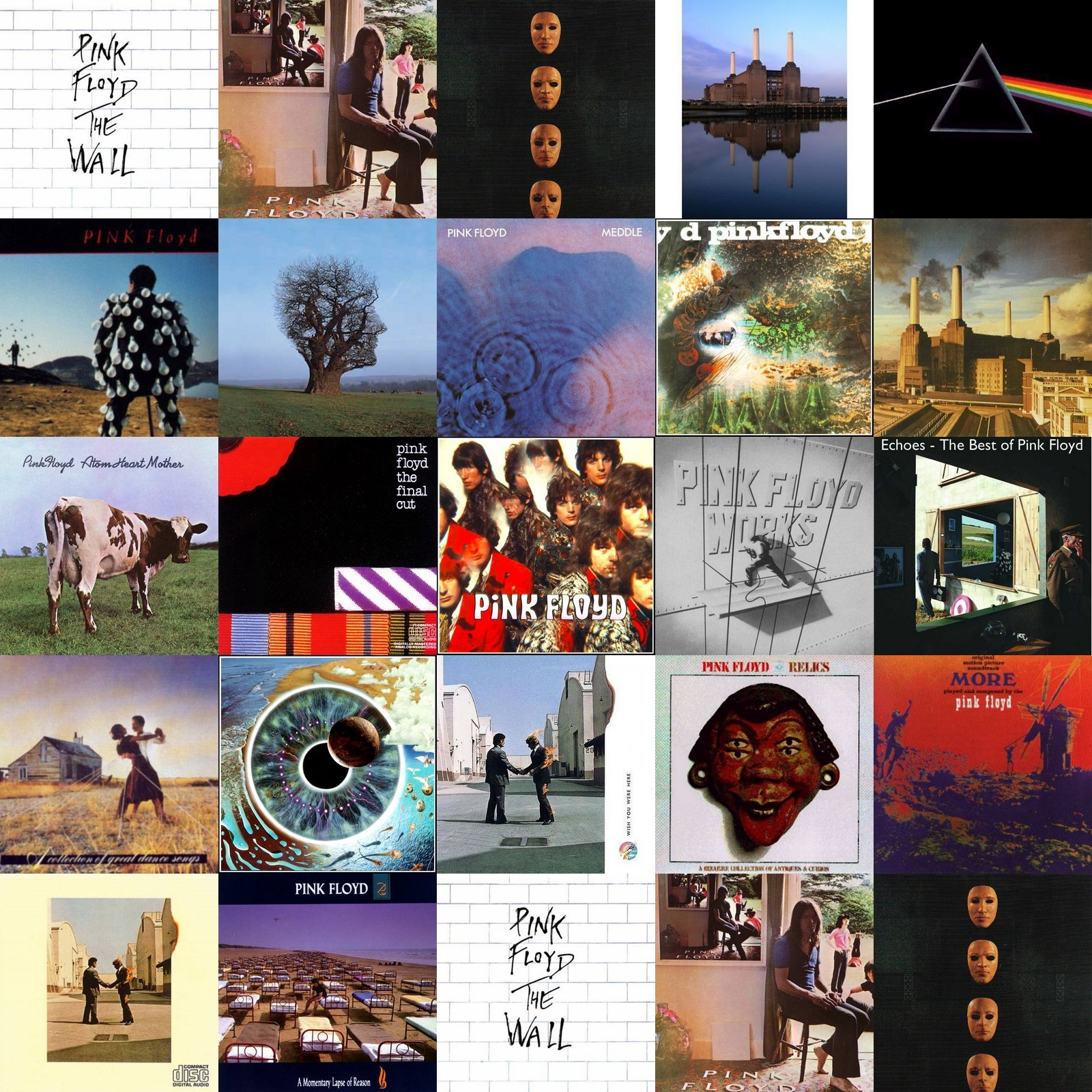 pink floyd collage in HD Wallpaper
