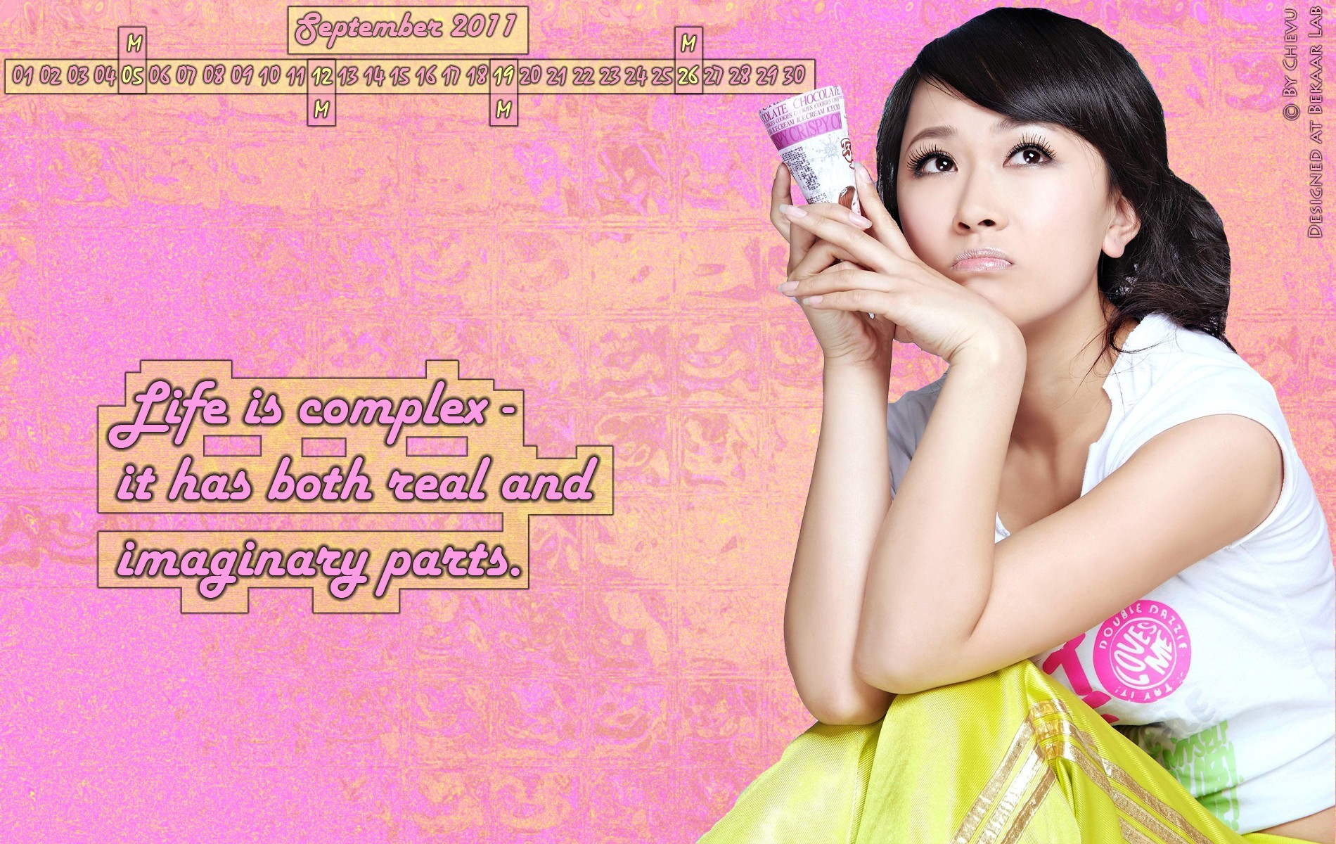 pink ice cream asians HD Wallpaper