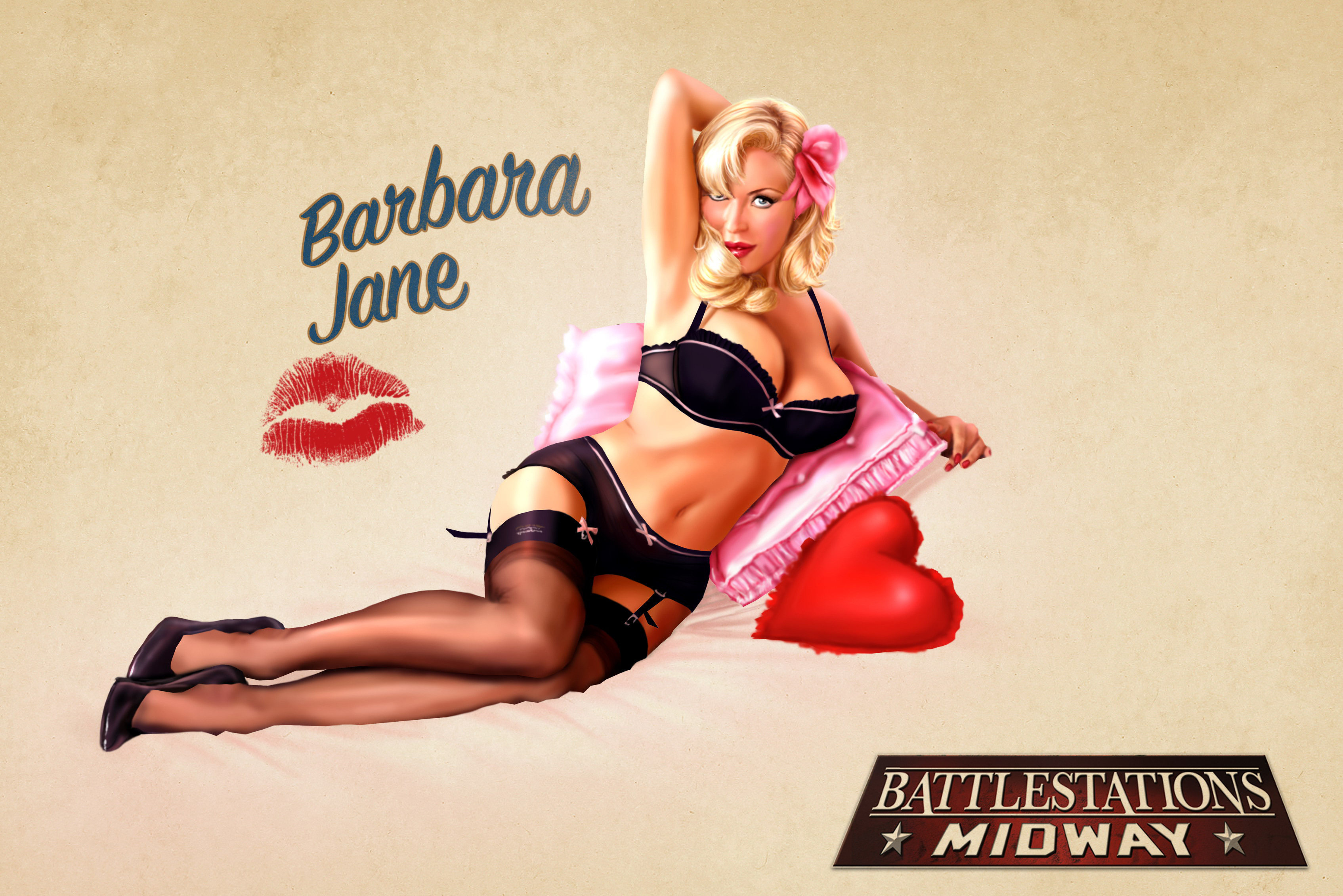 pinups Barbara Jane HD Wallpaper