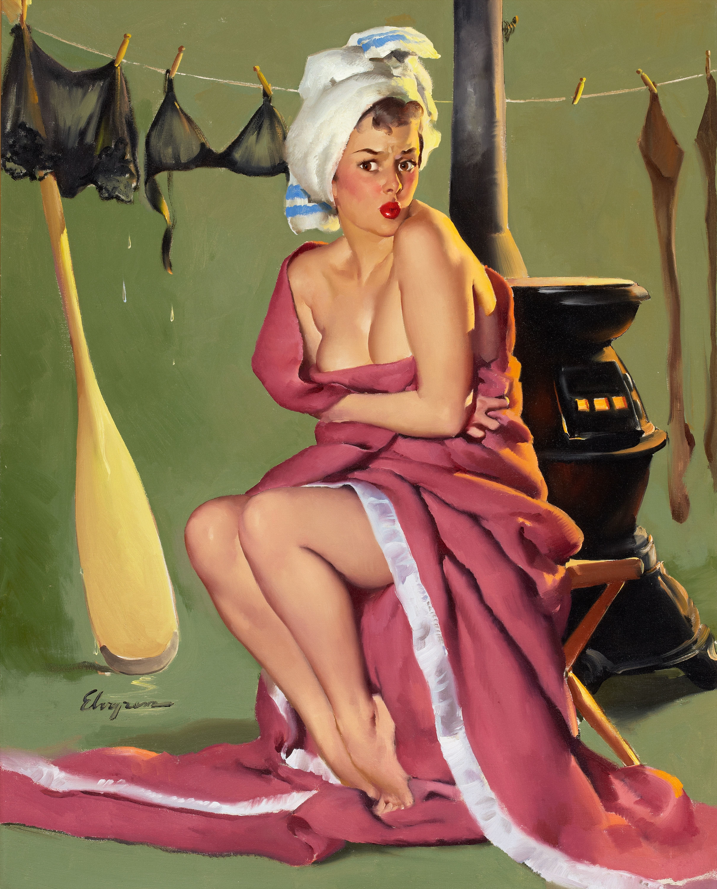 pinups Gil Elvgren HD Wallpaper