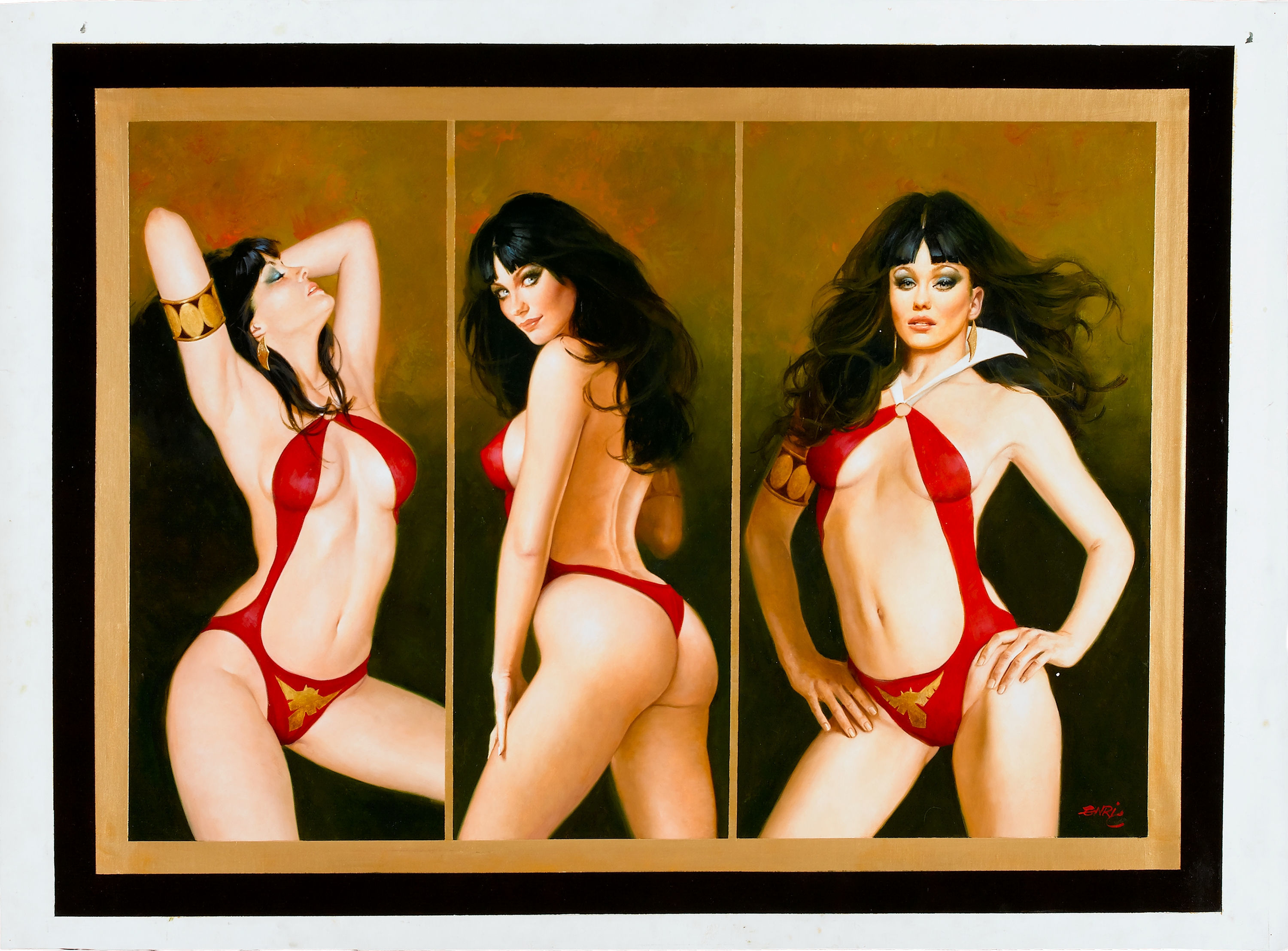 pinups Vampirella HD Wallpaper