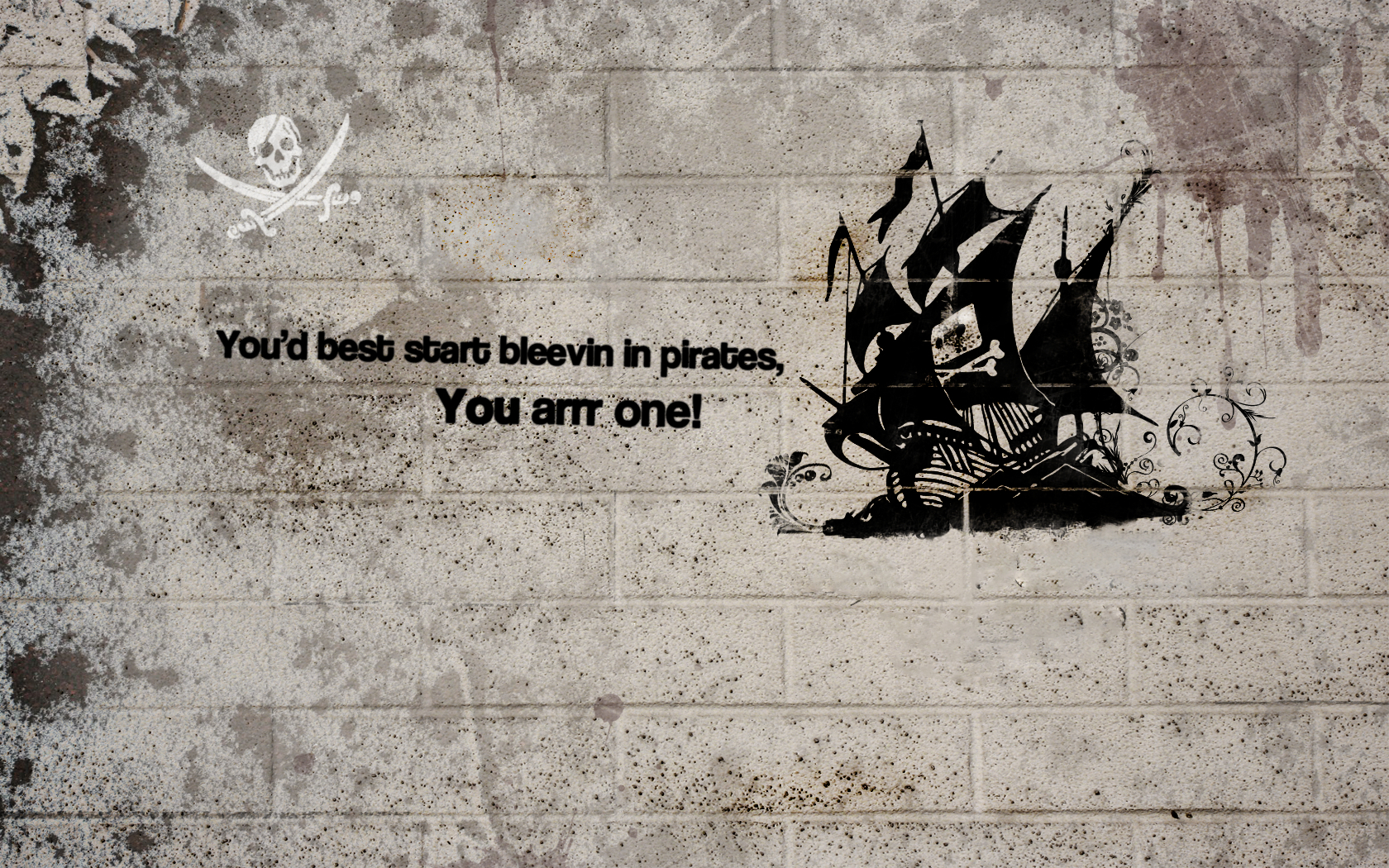pirate ship text Quotes HD Wallpaper