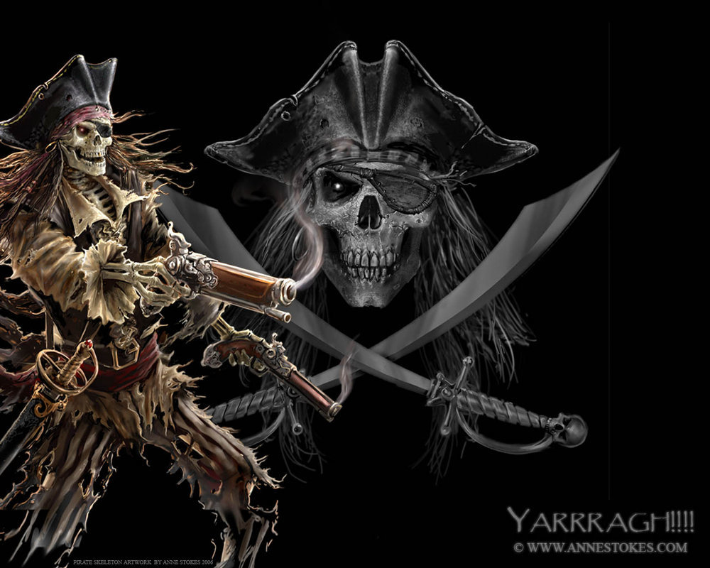 pirate skeleton by ironshod HD Wallpaper
