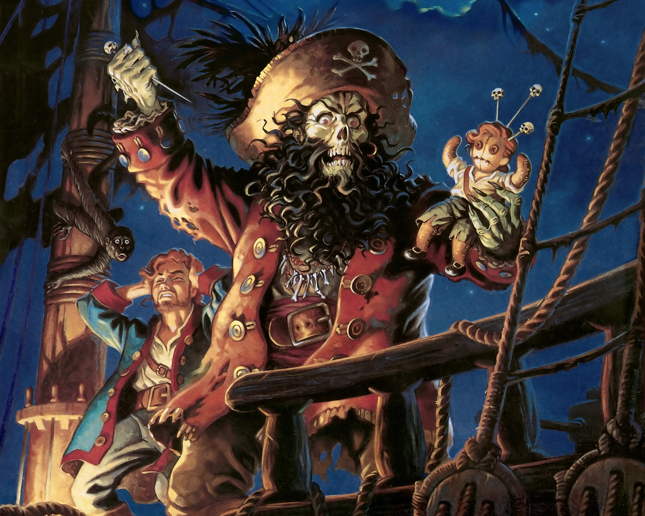 pirates paint Monkey Island