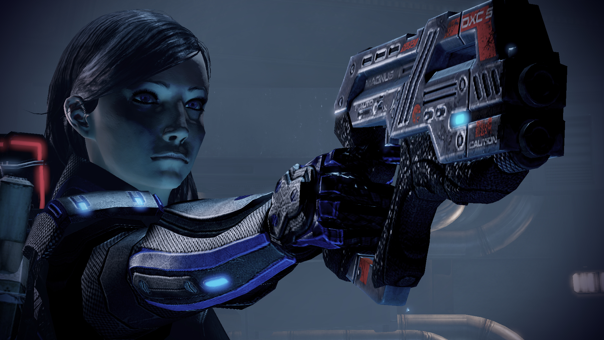 pistols mass effect FemShep HD Wallpaper