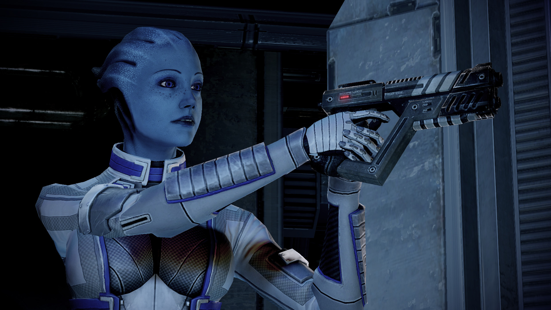 pistols mass effect liara HD Wallpaper