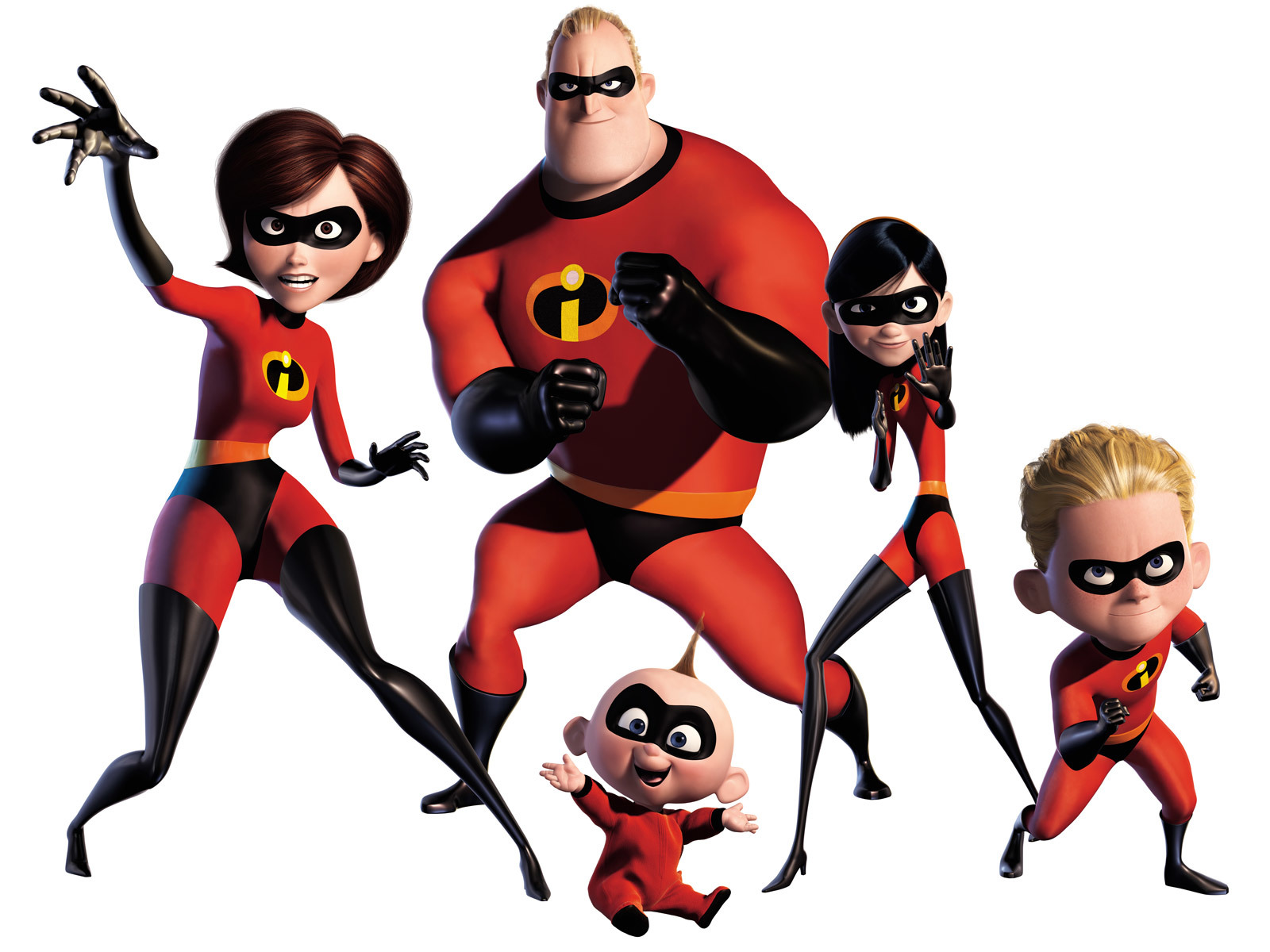 pixar cartoon incredibles family HD Wallpaper