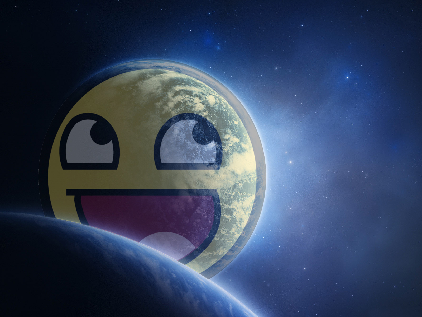 planets Awesome Face HD Wallpaper