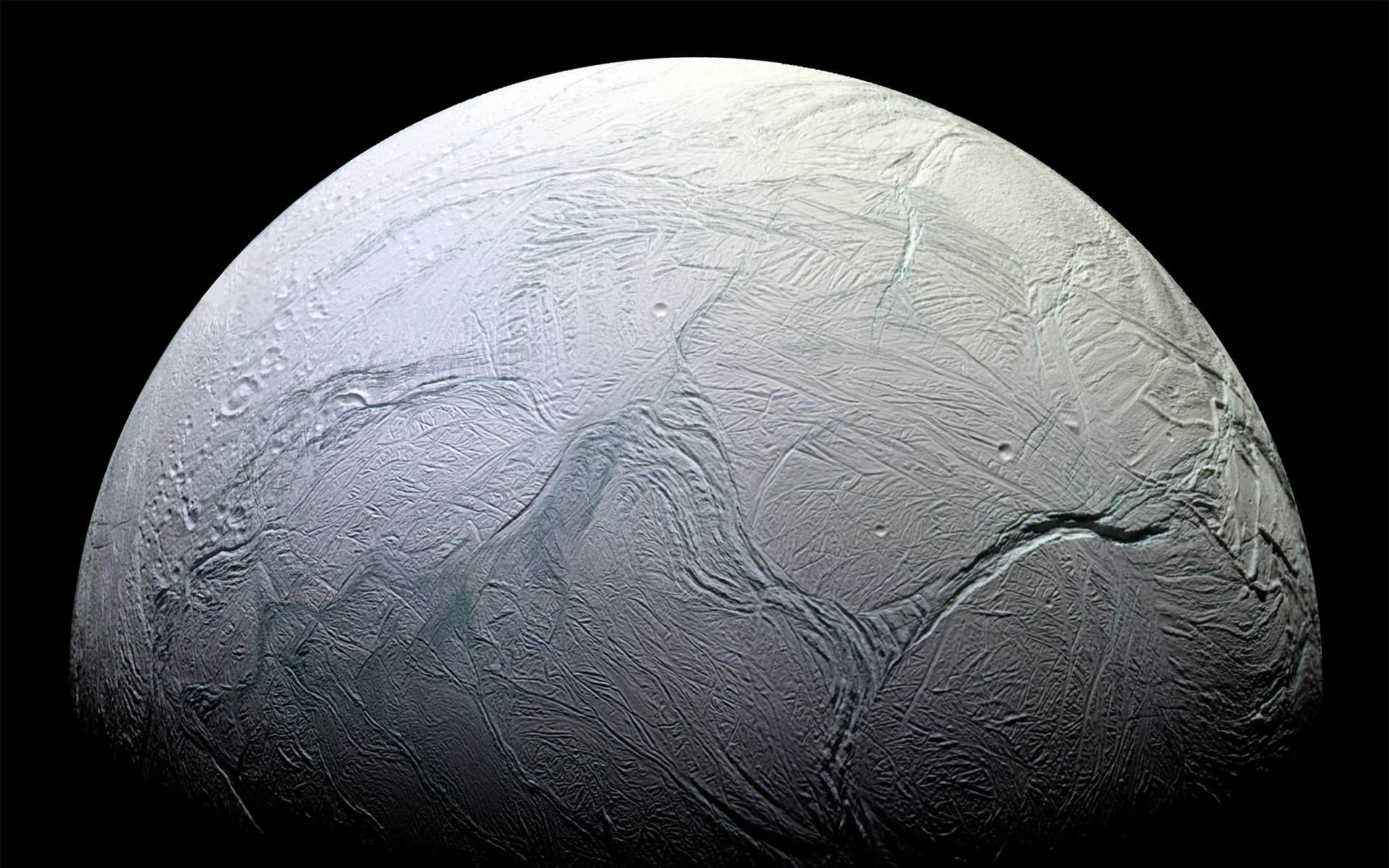 planets surface Enceladus HD Wallpaper