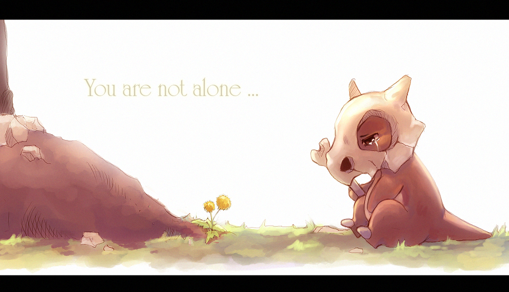 Pokemon alone cubone You HD Wallpaper