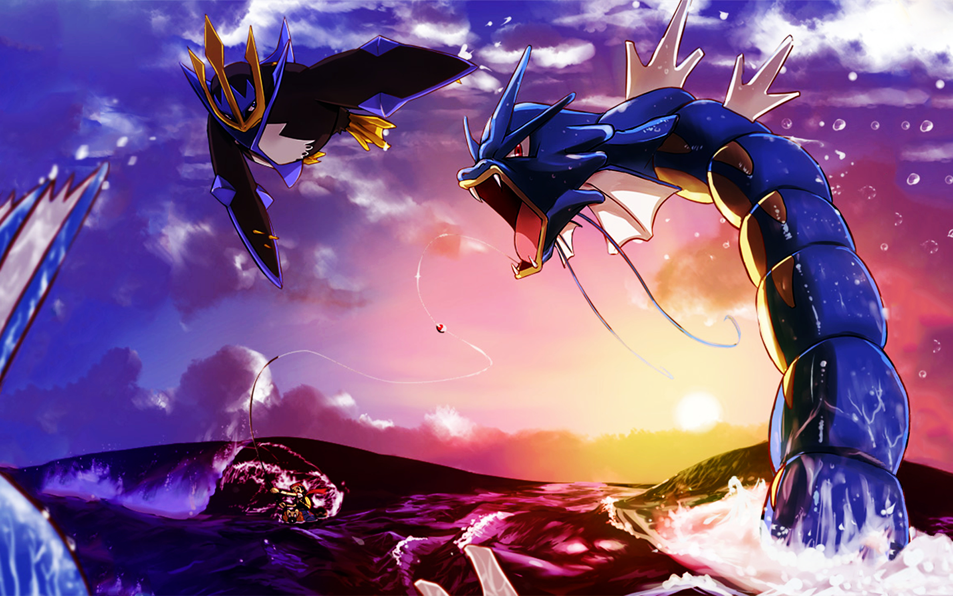 Pokemon Empoleon Gyarados Anime