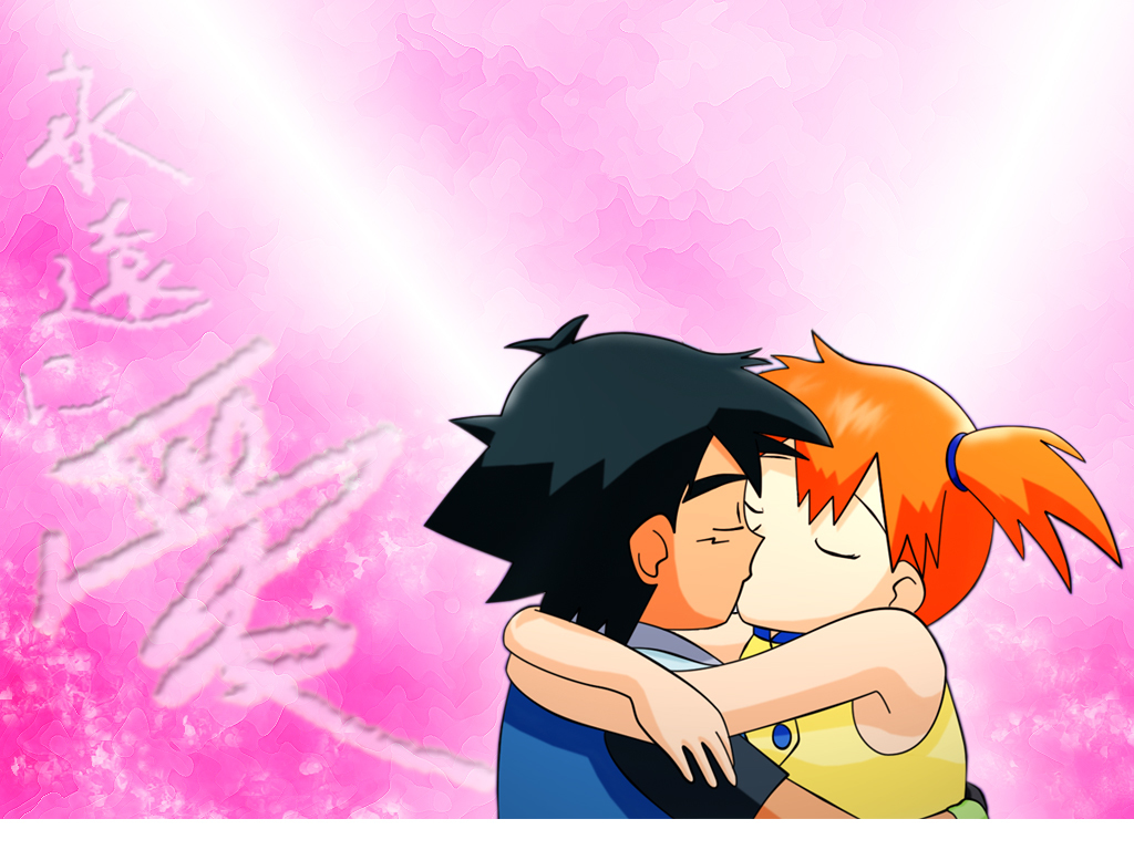 Pokemon kissing Misty (Pokemon) HD Wallpaper
