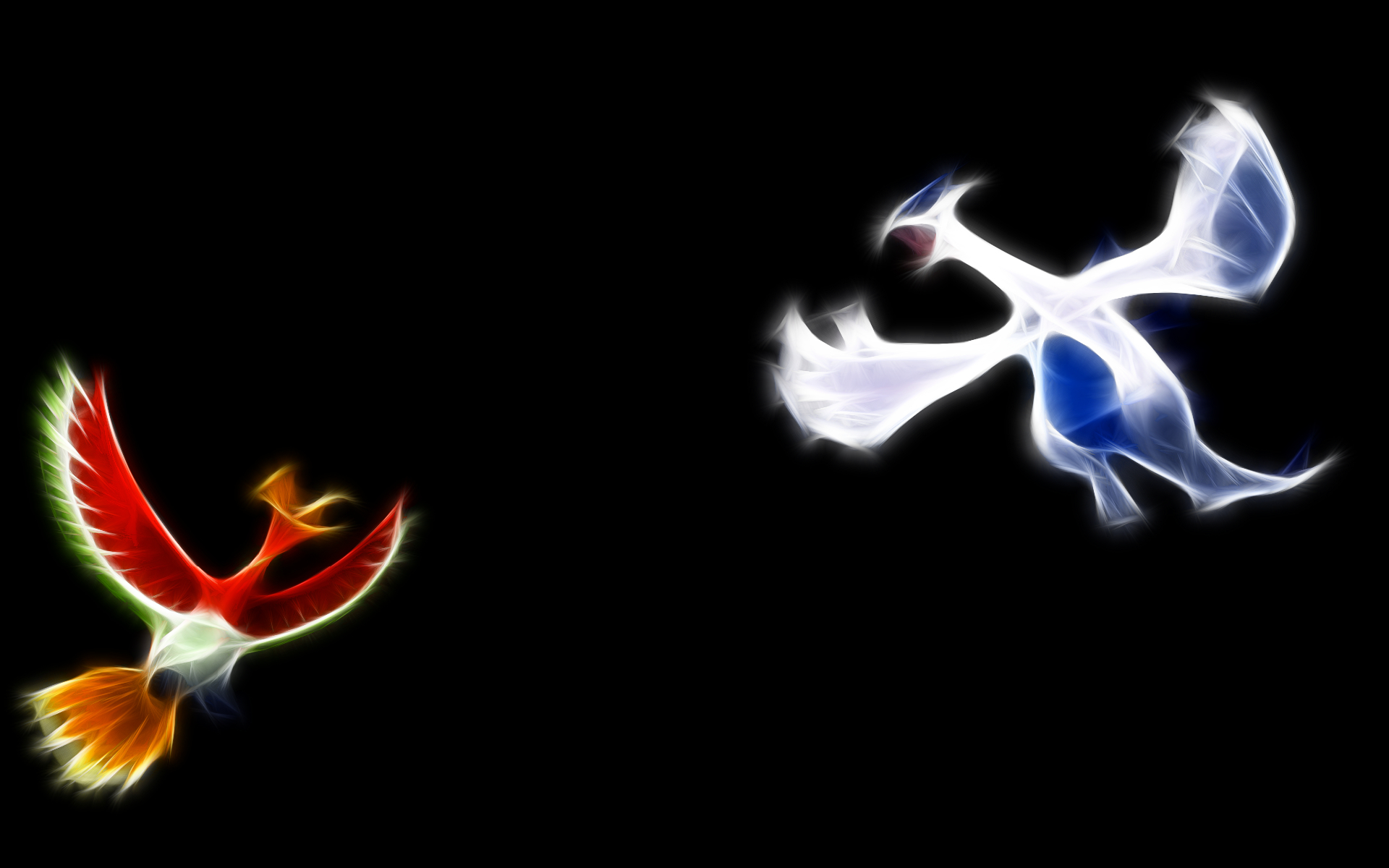 Pokemon lugia Ho-oh black HD Wallpaper