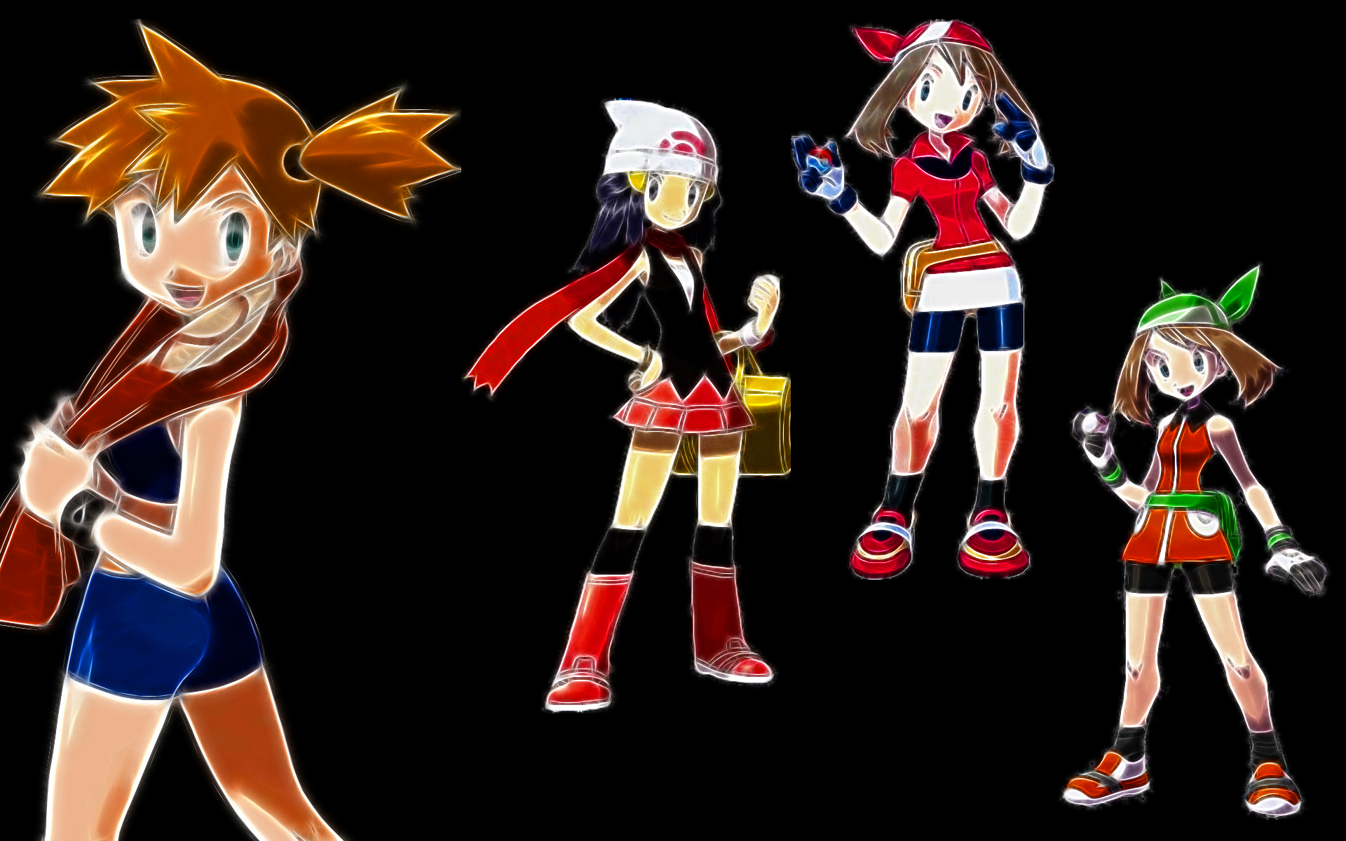 Pokemon misty ash ketchum HD Wallpaper