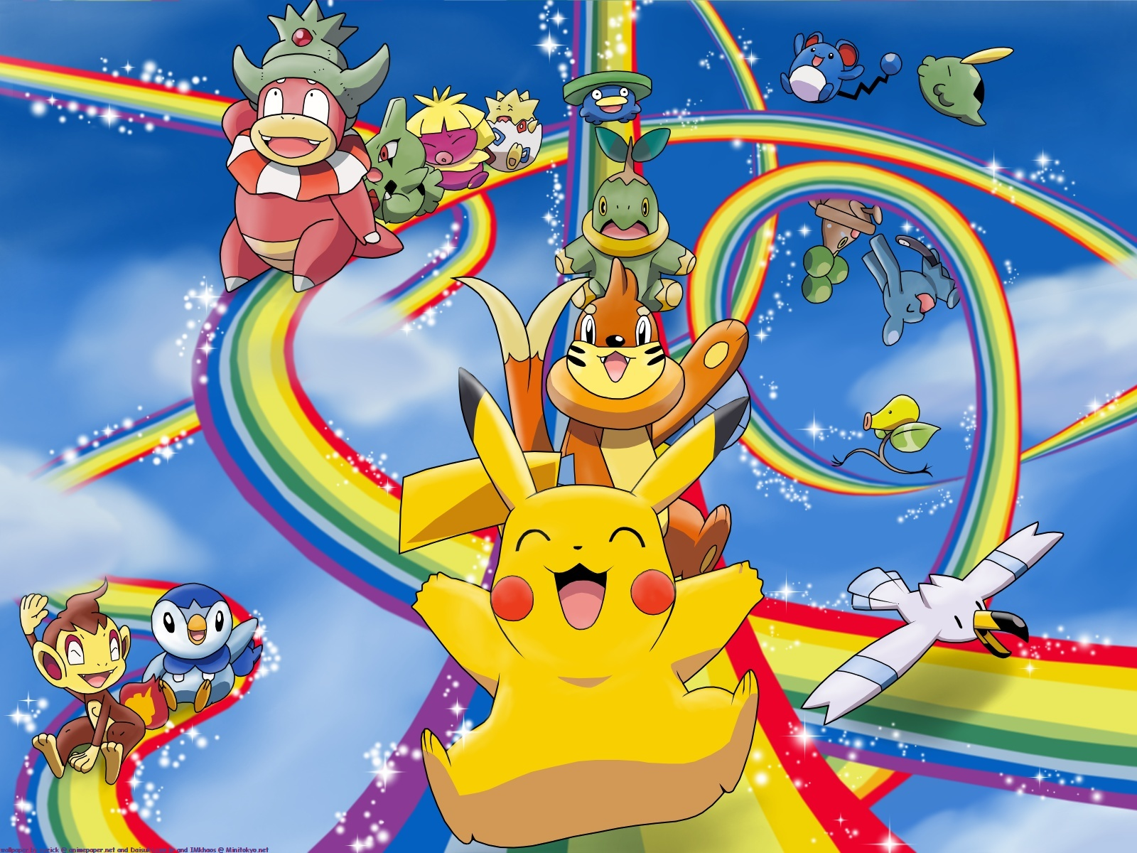Pokemon Pikachu rainbows
