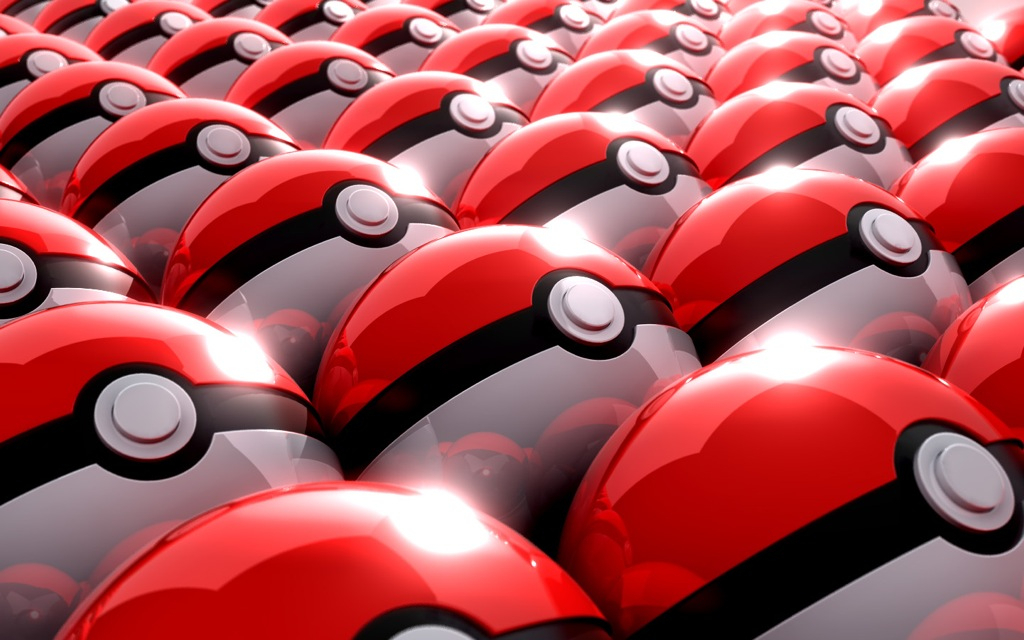 Pokemon Poke balls cartoon HD Wallpaper