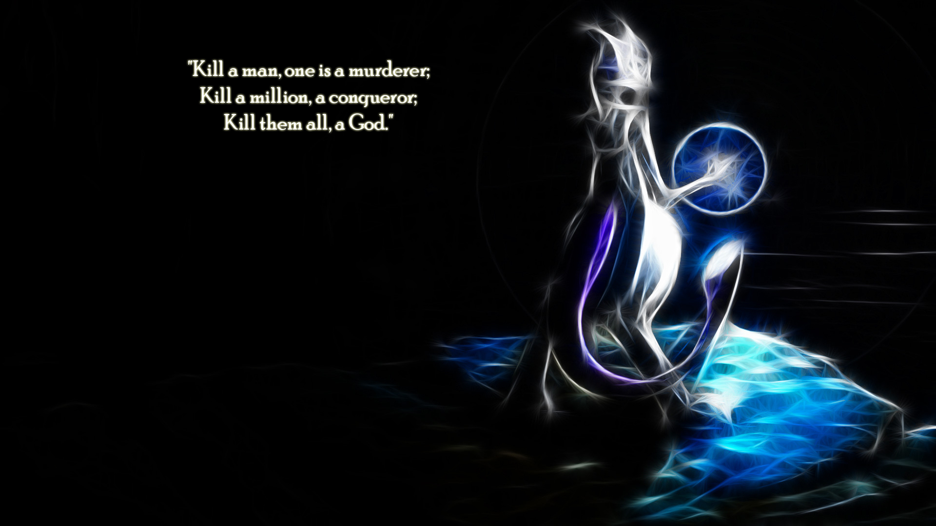 Pokemon Quotes Mewtwo Jean HD Wallpaper