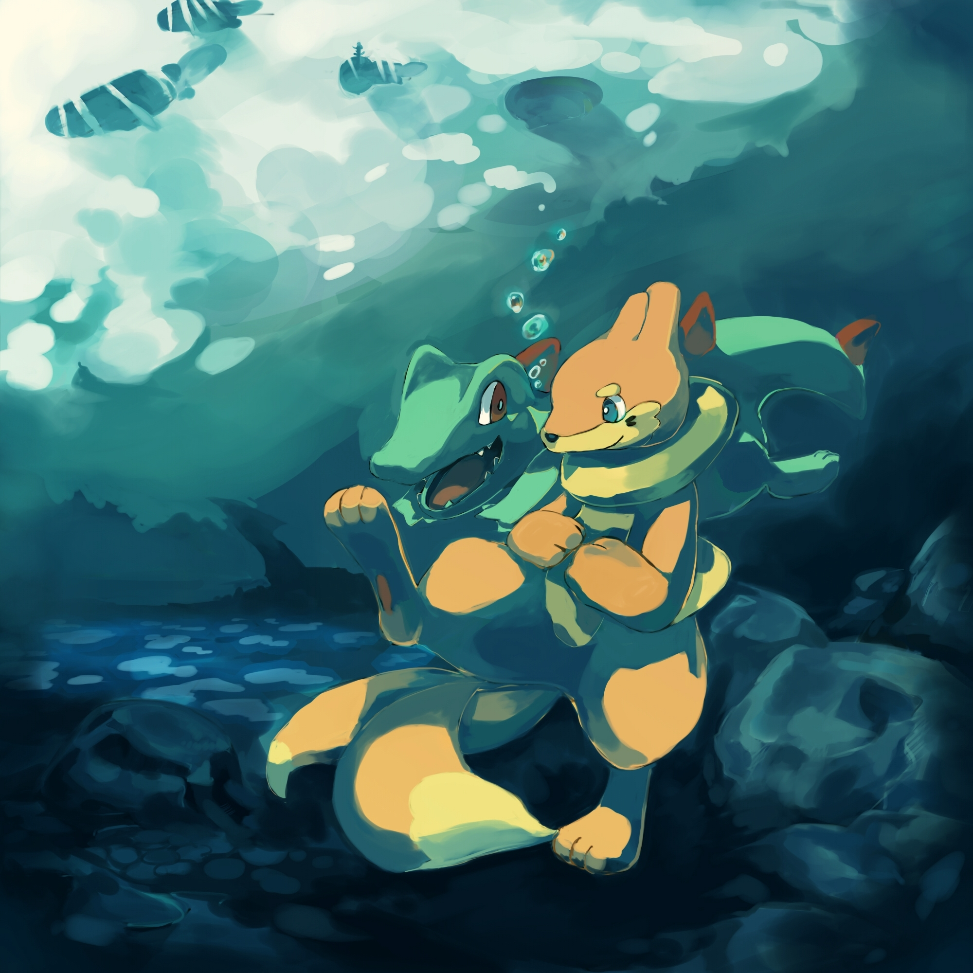 Totodile by Blue-Scribble on DeviantArt