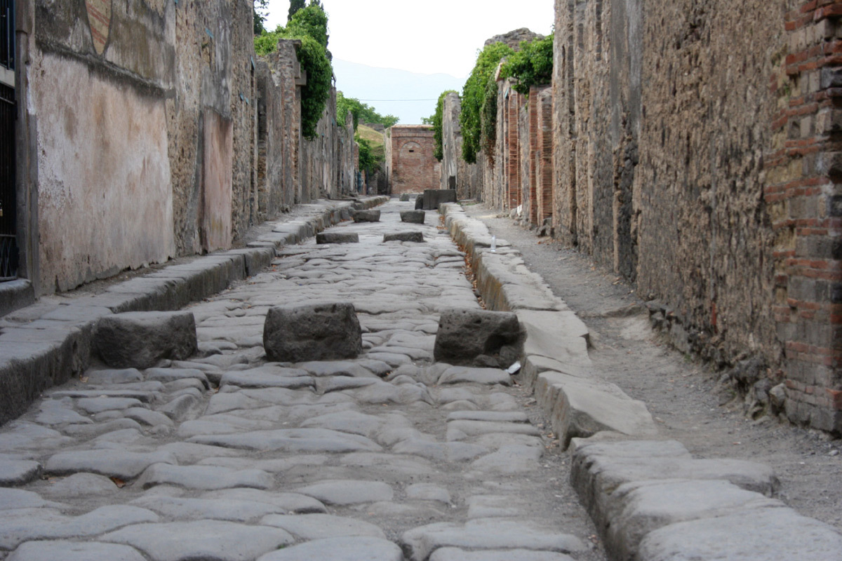 pompei street HD Wallpaper