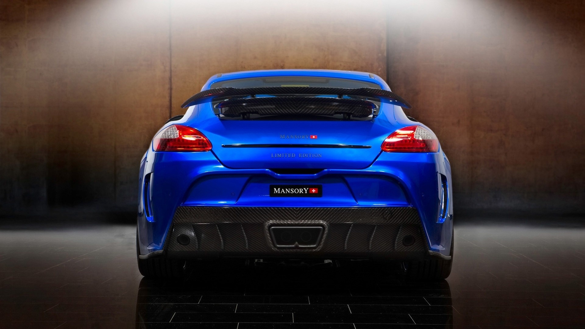 Porsche cars back view HD Wallpaper