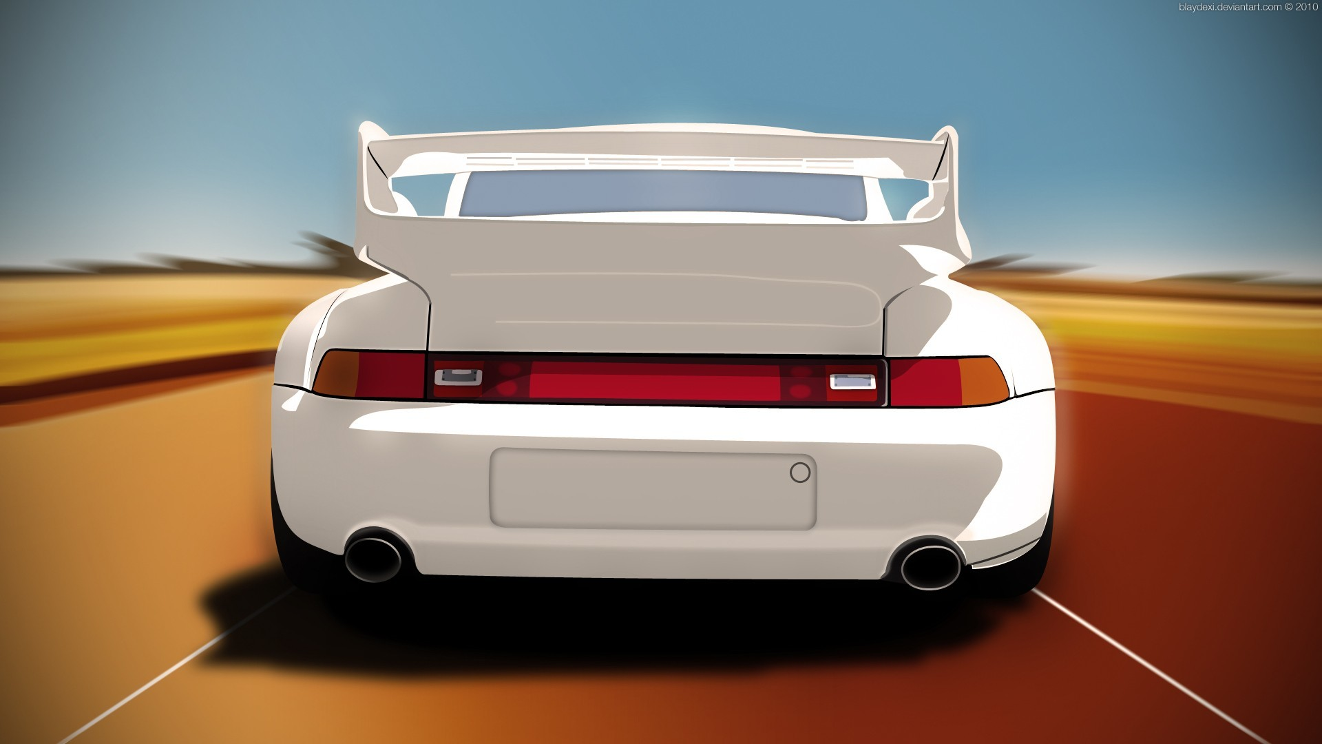Porsche cars digital art HD Wallpaper