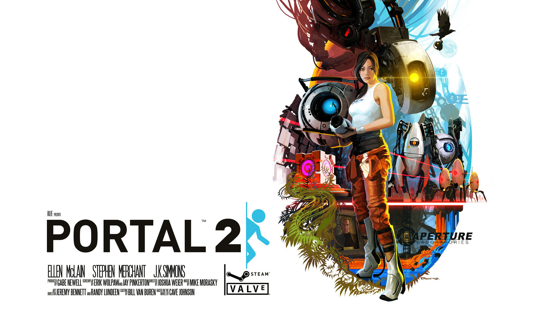 portal 2 turret Wheatley HD Wallpaper