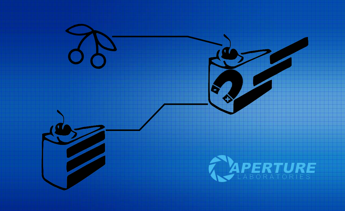 Portal blueprints aperture laboratories HD Wallpaper