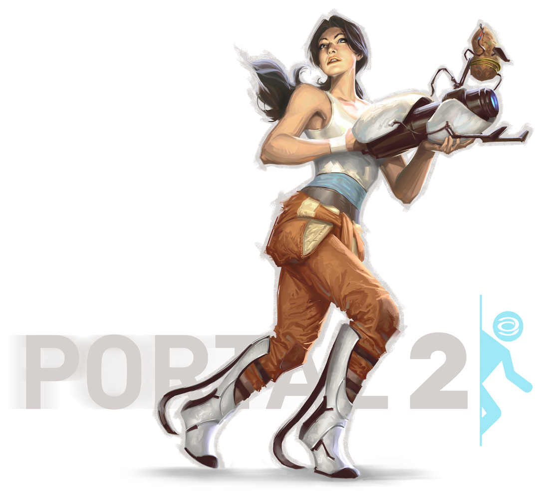Portal Chell artwork HD Wallpaper