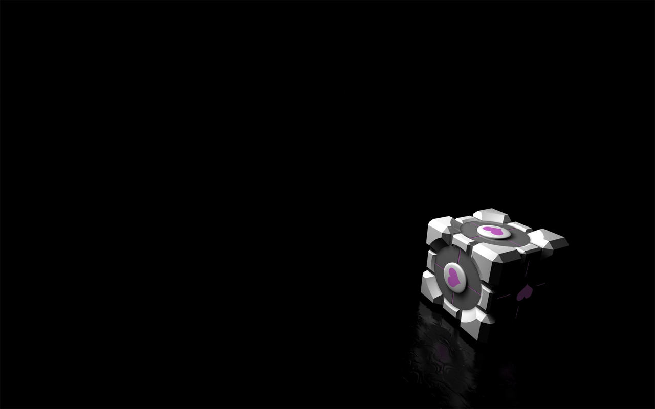 Portal Companion Cube HD Wallpaper