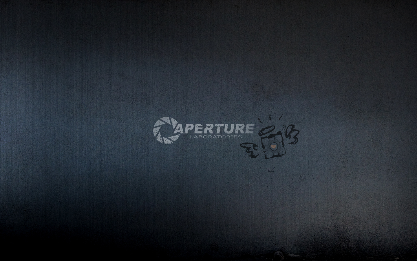 Portal Companion Cube Aperture HD Wallpaper