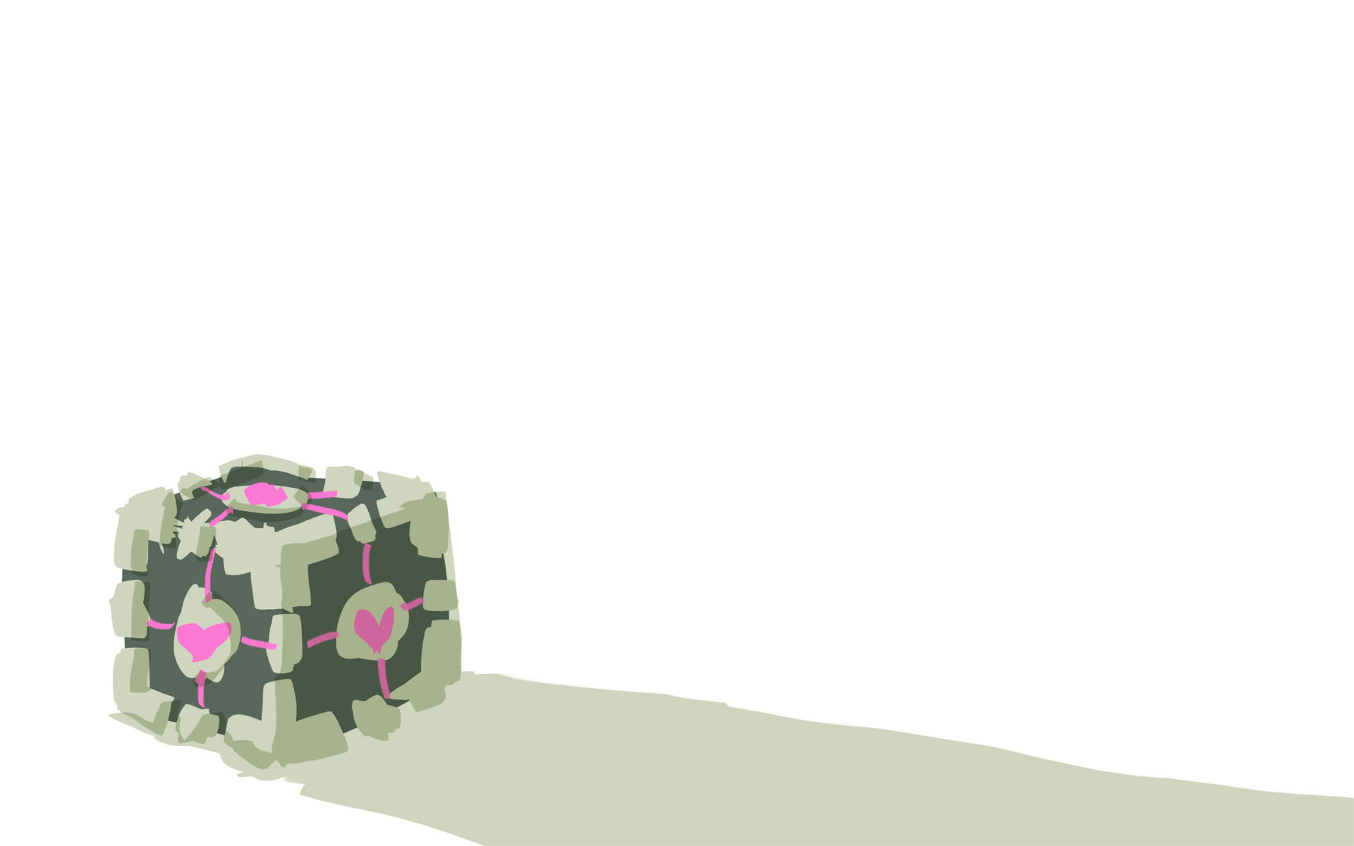 Portal Companion Cube weighted HD Wallpaper