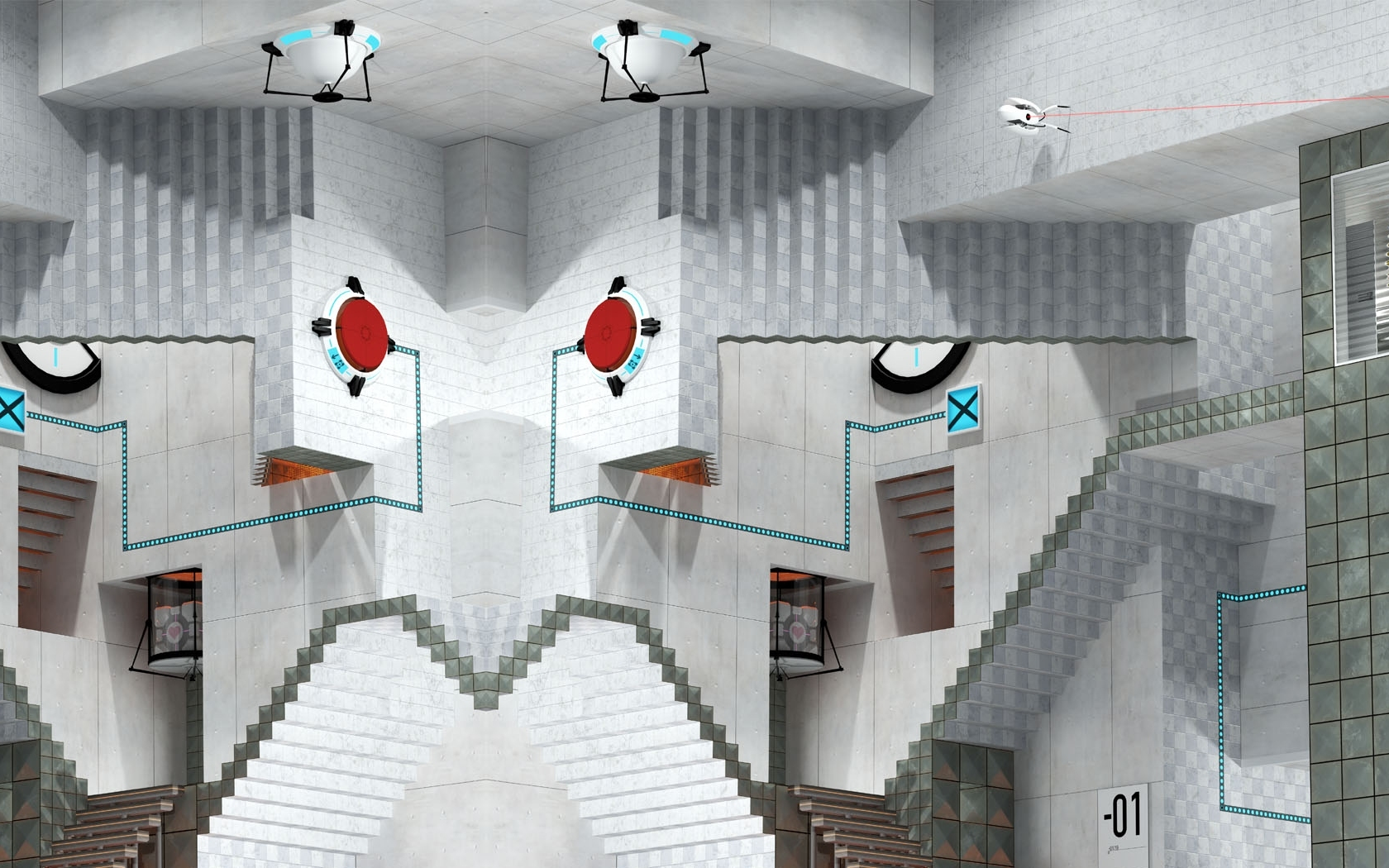 Portal mc escher game HD Wallpaper