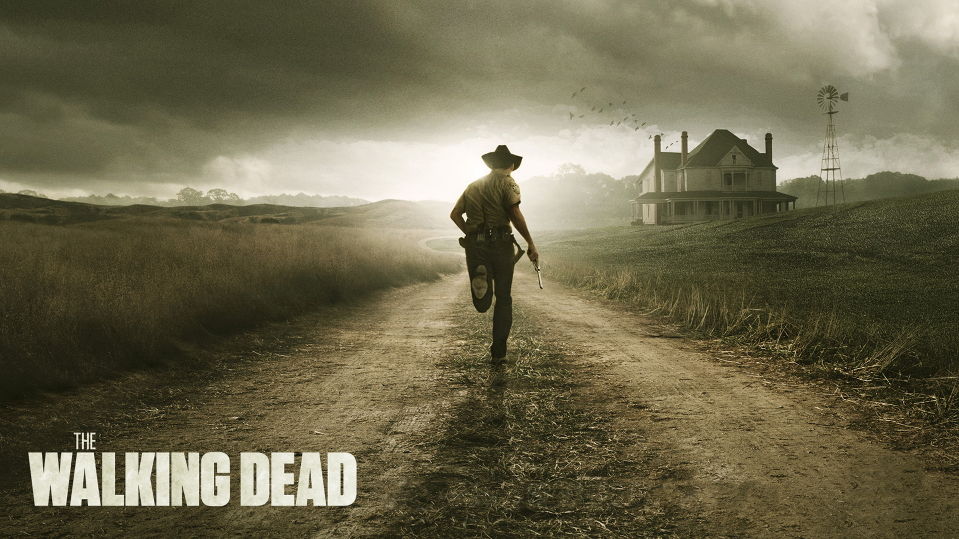 post-apocalyptic the walking dead HD Wallpaper