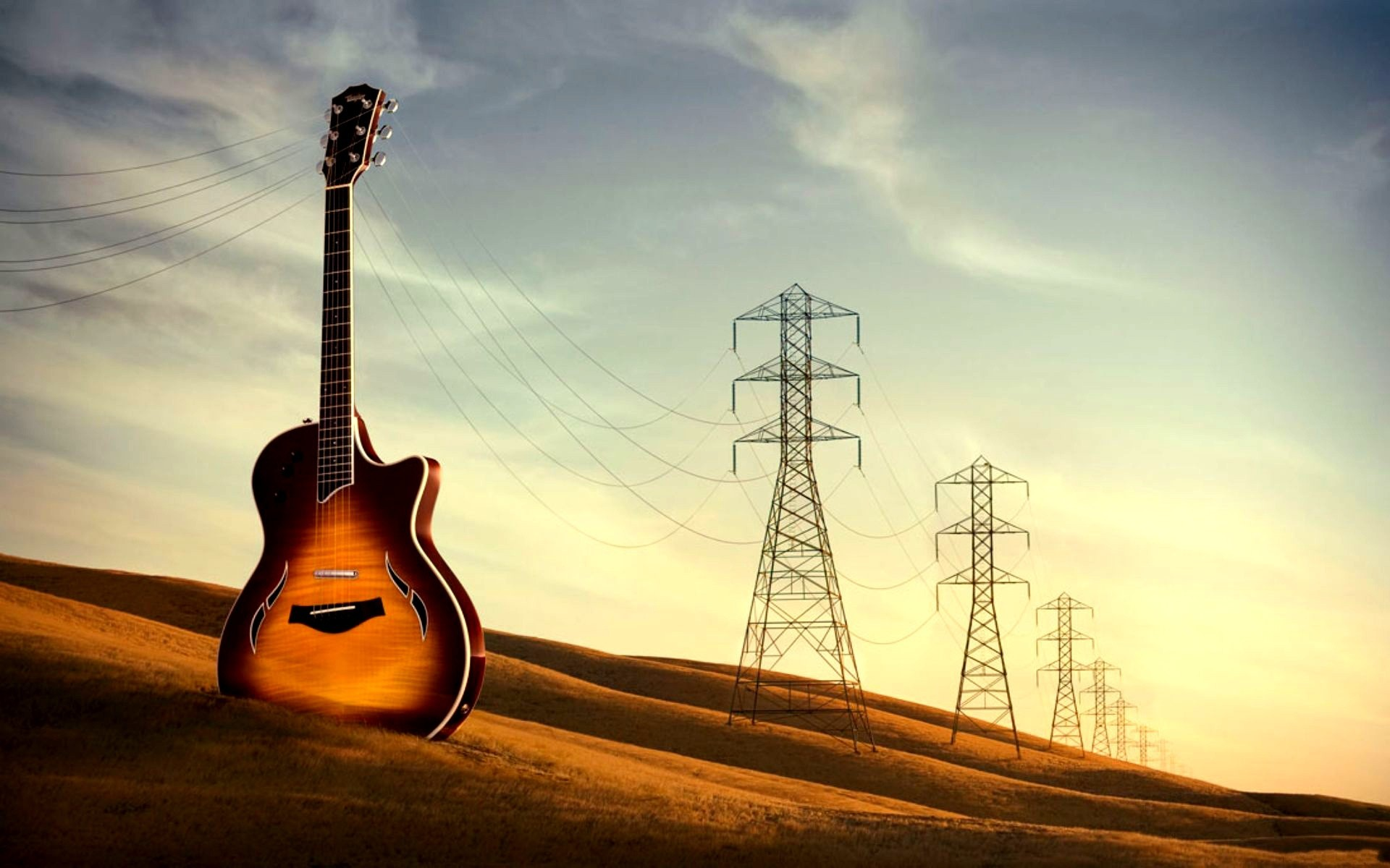 power lines Music HD Wallpaper