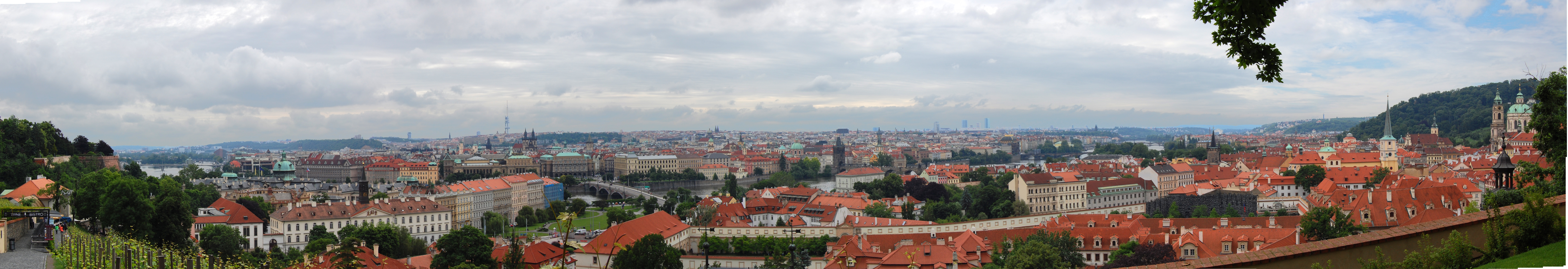 Prague panorama from near HD Wallpaper