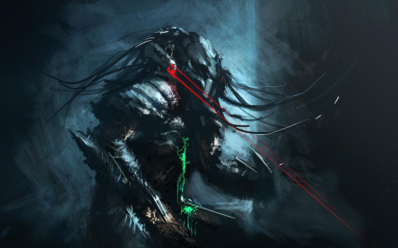 predator blood artwork alien HD Wallpaper