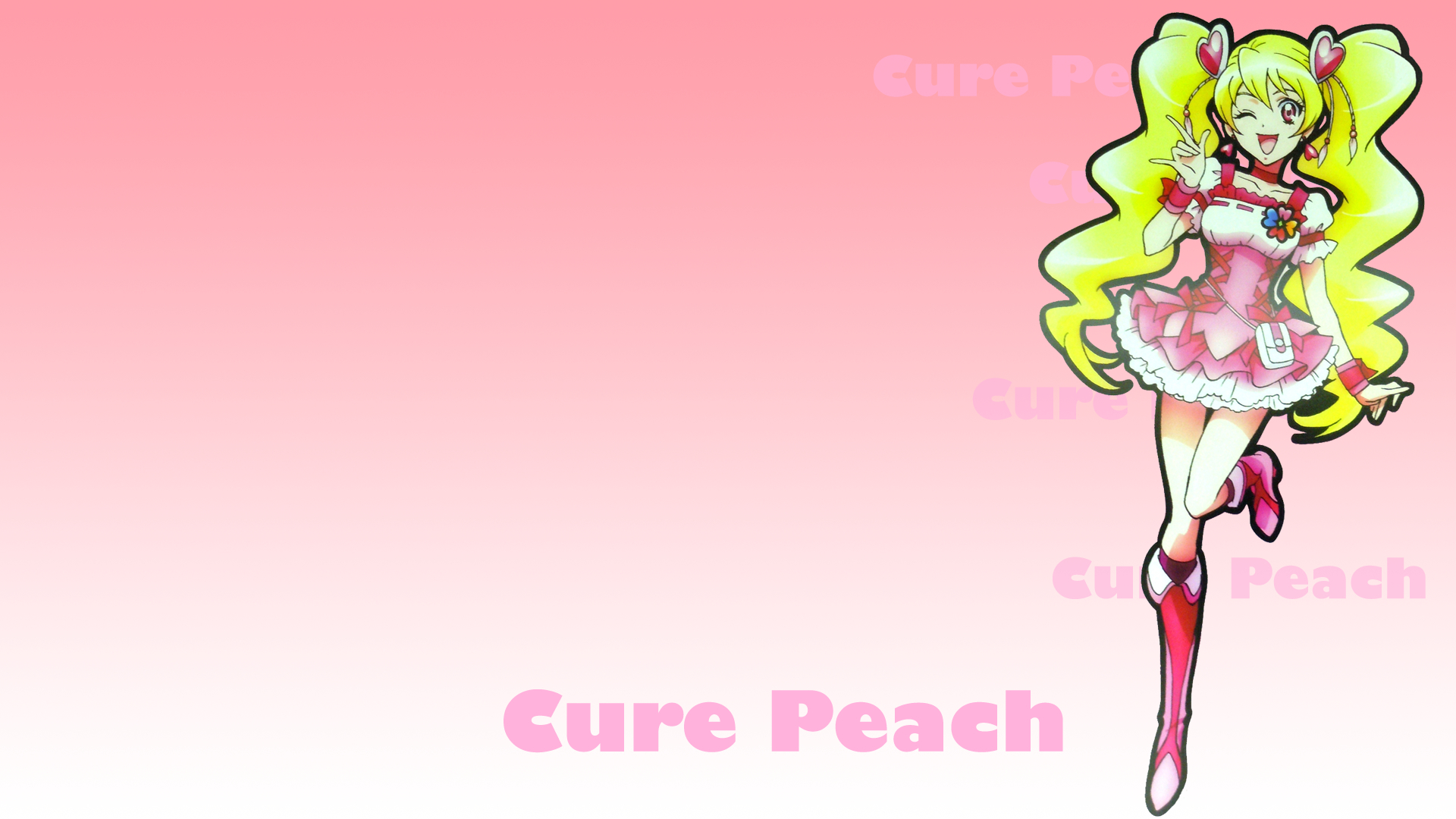 pretty cure simple background