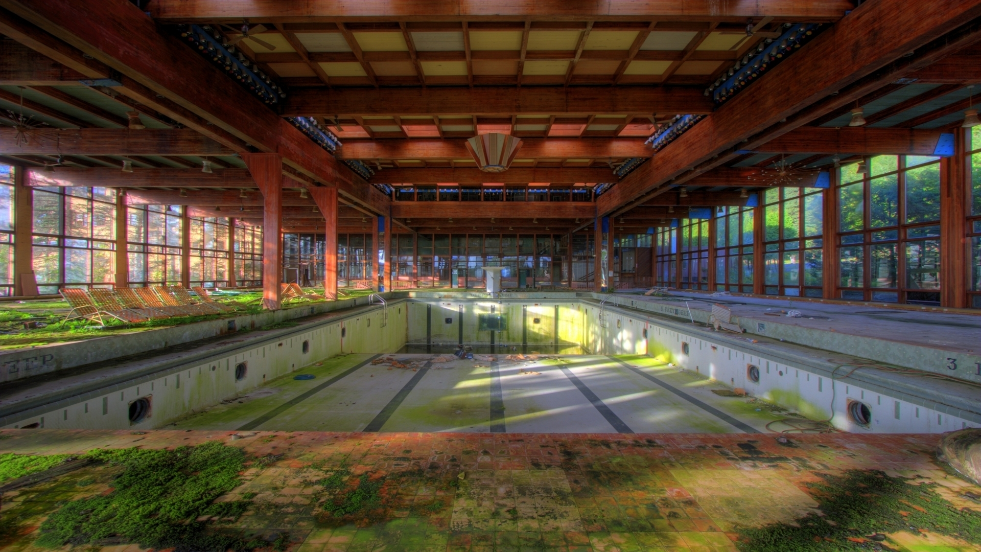 Pripyat Chernobyl swimming pools HD Wallpaper