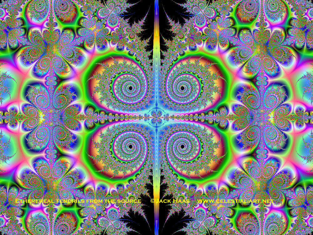 psychedelic Art ethereal tendrils HD Wallpaper