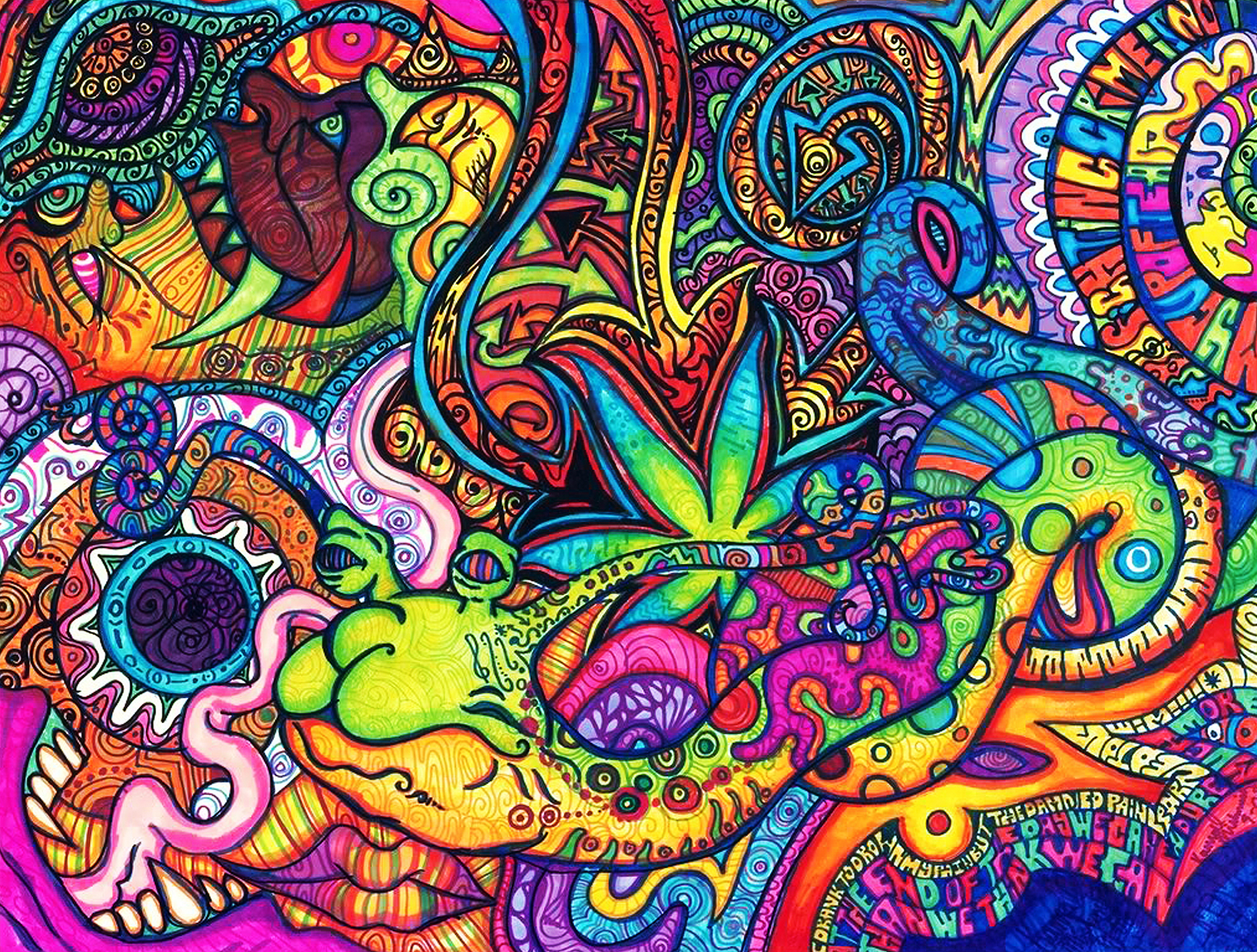 psychedelic brighter yet think HD Wallpaper